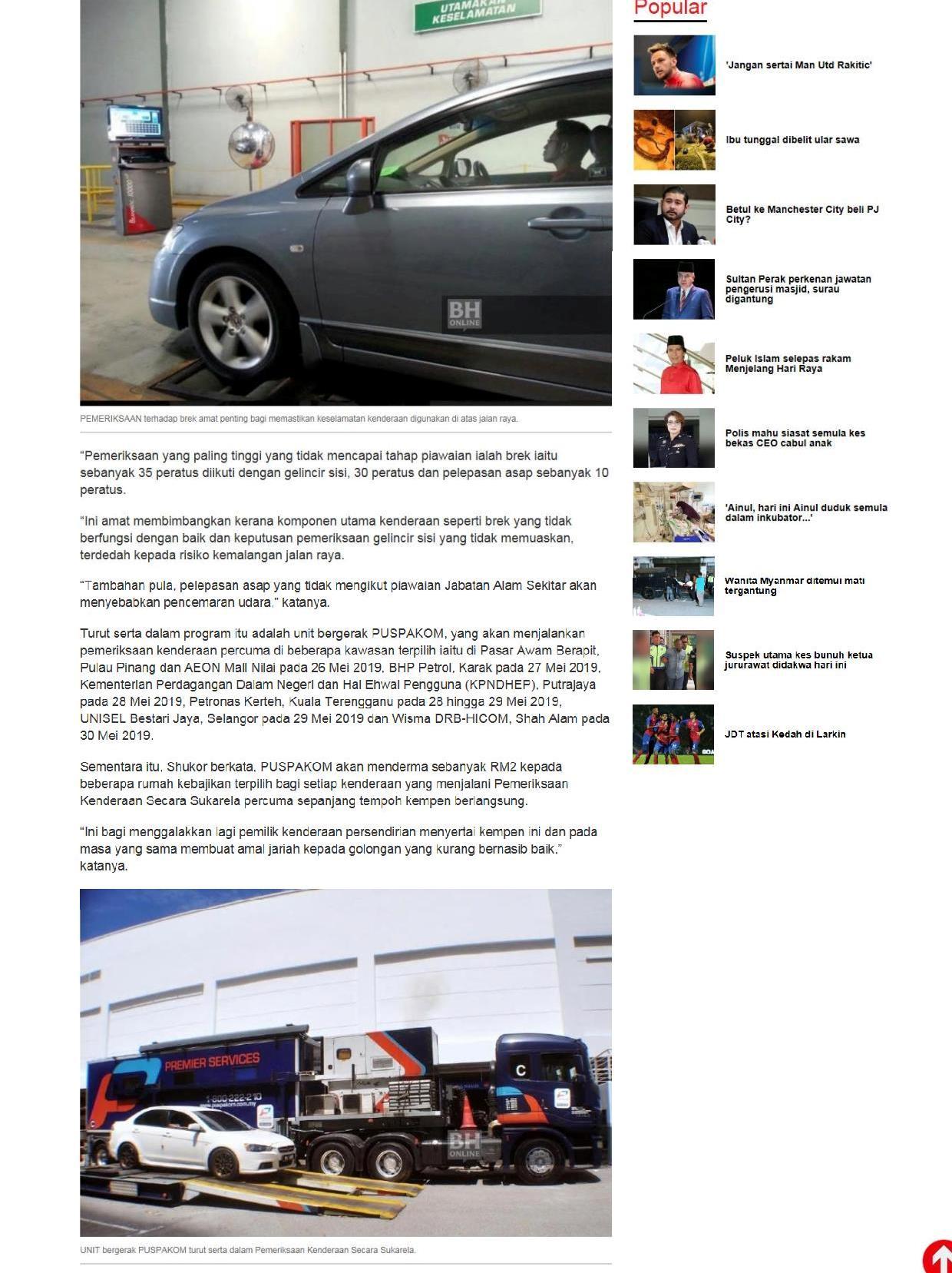 Berita Harian.com_25.5_Pemeriksaan kenderaan secara sukarela percuma sempena Aidilfitri 2-3